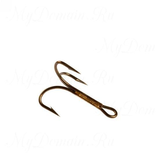 Тройник Cannelle (3212 Z) № 2 уп. 10 шт. (бронза,круглый поддев,тонкая проволка,неспаянное одно цевье)