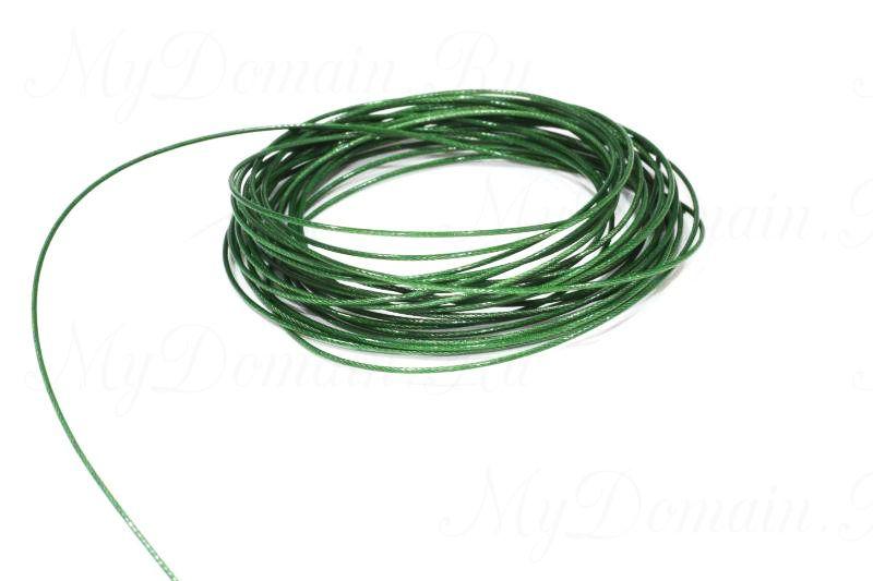 Поводочный материал Climax Toothy Critter (зеленый) 0,68мм 22,7 кг (стальной с полимерн.покрытием,вяжется и спаивается)