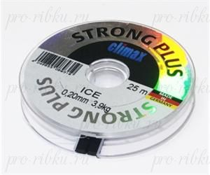 Леска Climax Strong Plus Ice 0,10 мм 25 м 1,10 кг уп. 10 шт. (прозрачная)