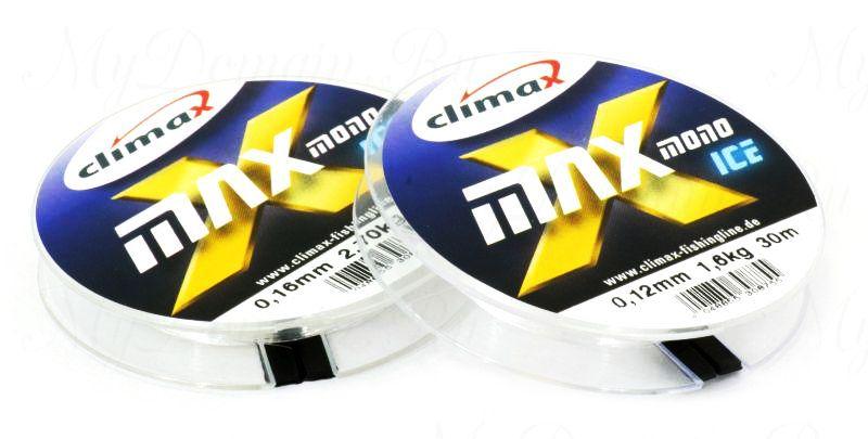 Леска Climax X-Max Mono Ice 0,14 мм 50 м 2,20 кг уп. 10 шт. (прозрачная)