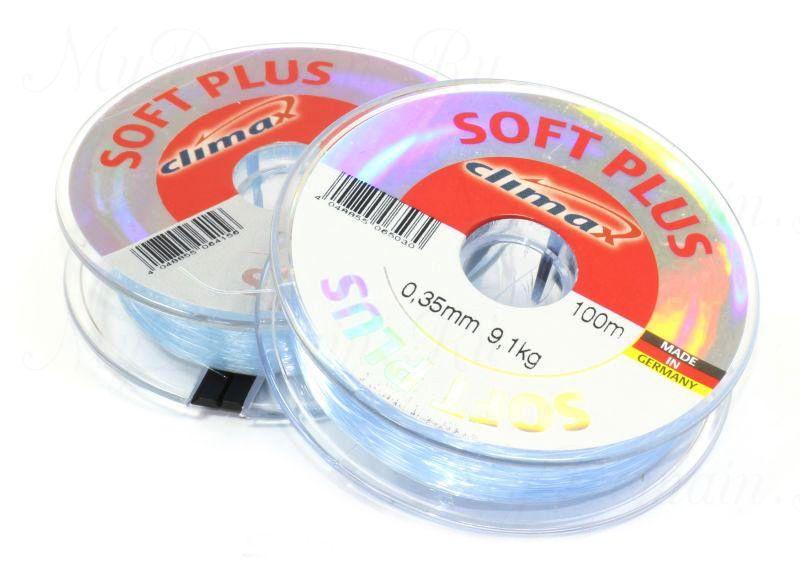 Леска Climax Soft Plus (голубая) 100 м 0,22 мм 4,0 кг уп. 10 шт.