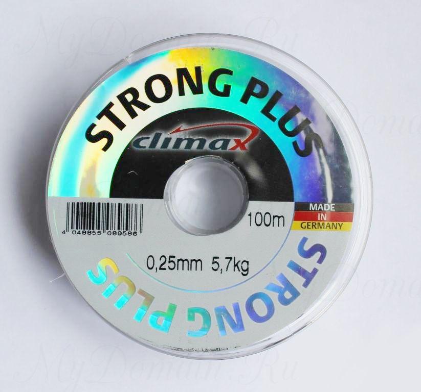 Леска Climax Strong Plus (прозрачная) 100 м 0,18 мм 3,3 кг уп. 10 шт.