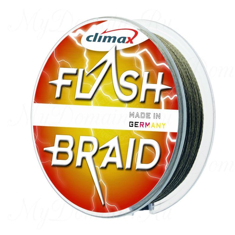 Плетёный шнур Climax FLASH BRAID 0,12 мм 7,5 кг 100 м цвет: зеленый (плавающий)
