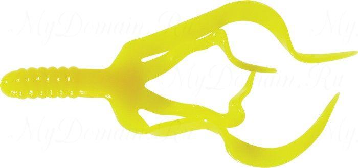 Твистер четыреххвостый MISTER TWISTER Split Double Tail 10 см уп. 10 шт. 2 (желтый) фирменная упаковка