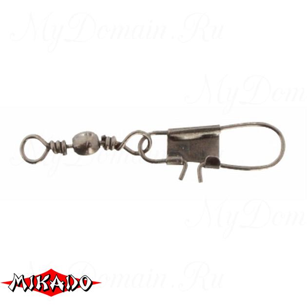 Застежка с вертлюжком Mikado Interlock № 14.  тест 10 кг. (12 шт.) фас.=10 уп., упак
