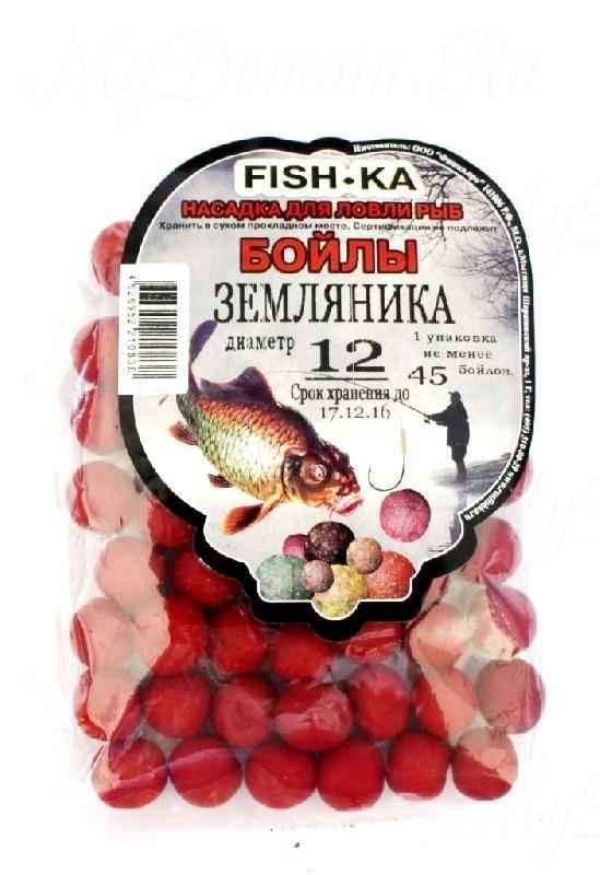 Бойлы FISH.KA (земляника) диаметр 18 мм