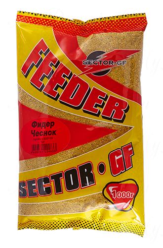 Прикормка GREENFISHING SECTOR-GF Feeder Чеснок, вес 1 кг